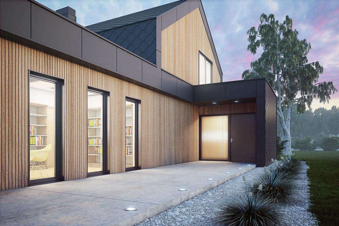 sodobna podoba fasade oblikovanje