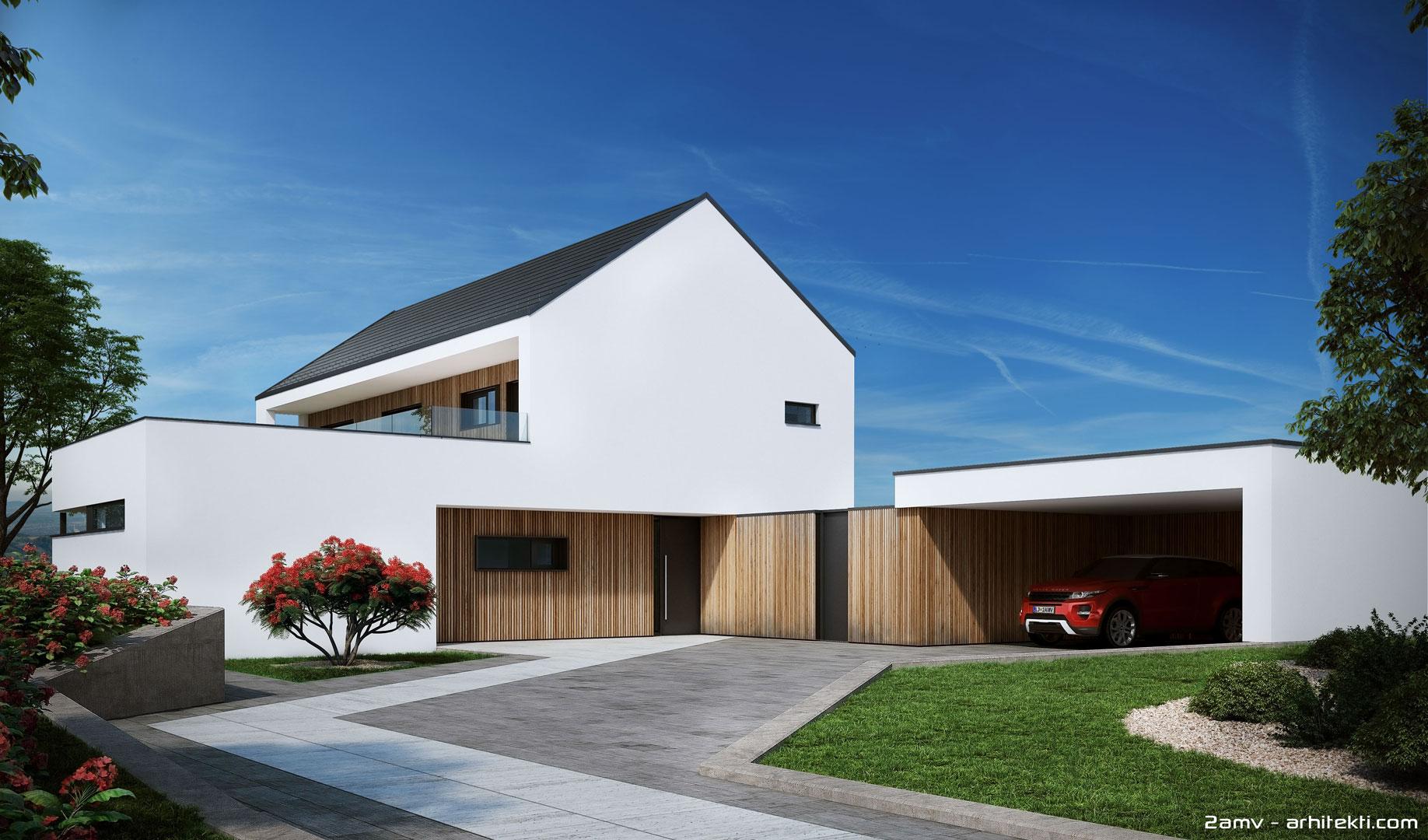 Projekt moderne hiše – Izdelava projektne dokumentacije