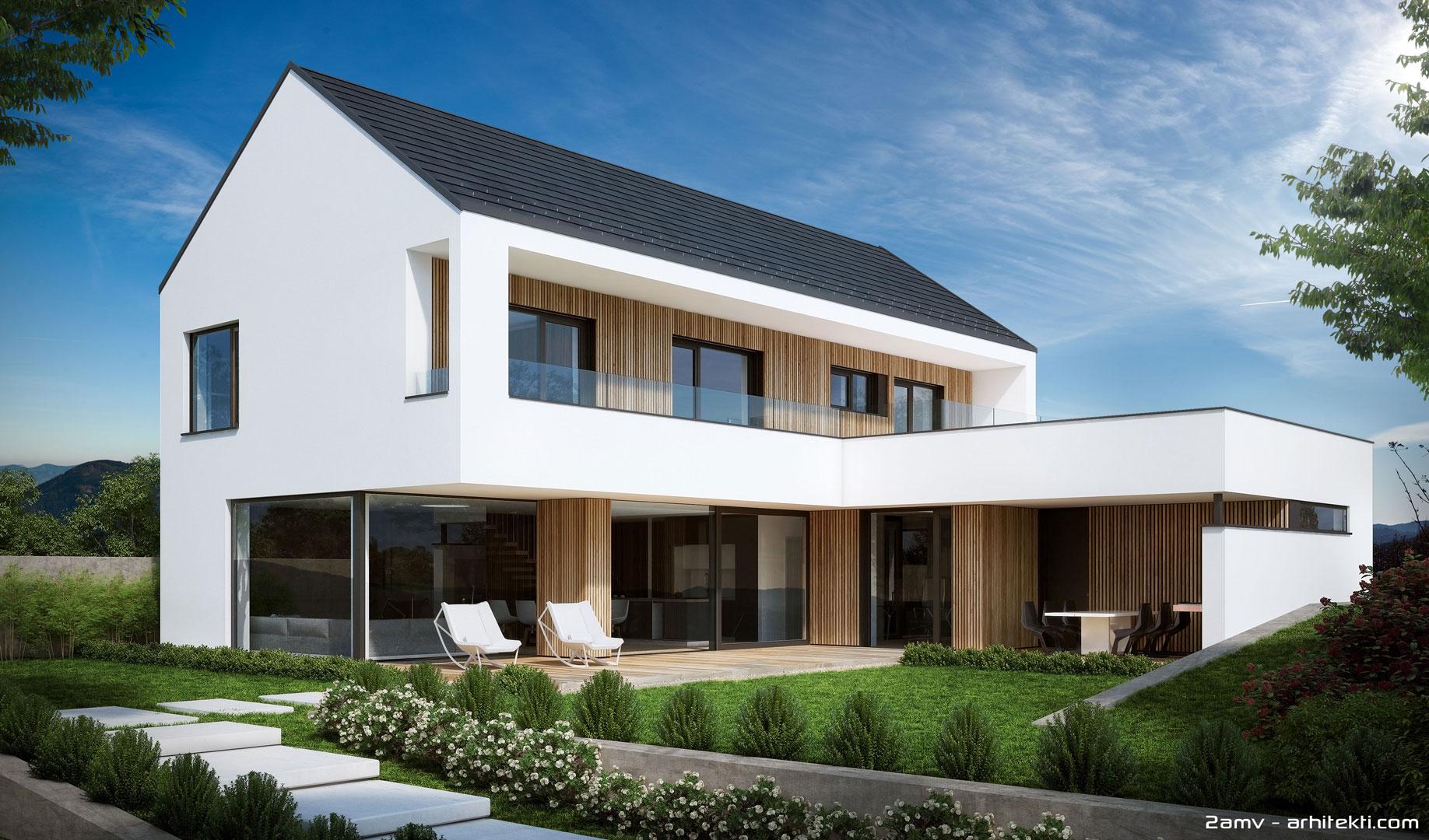 Zidana gradnja s kontaktno in leseno fasadno oblogo