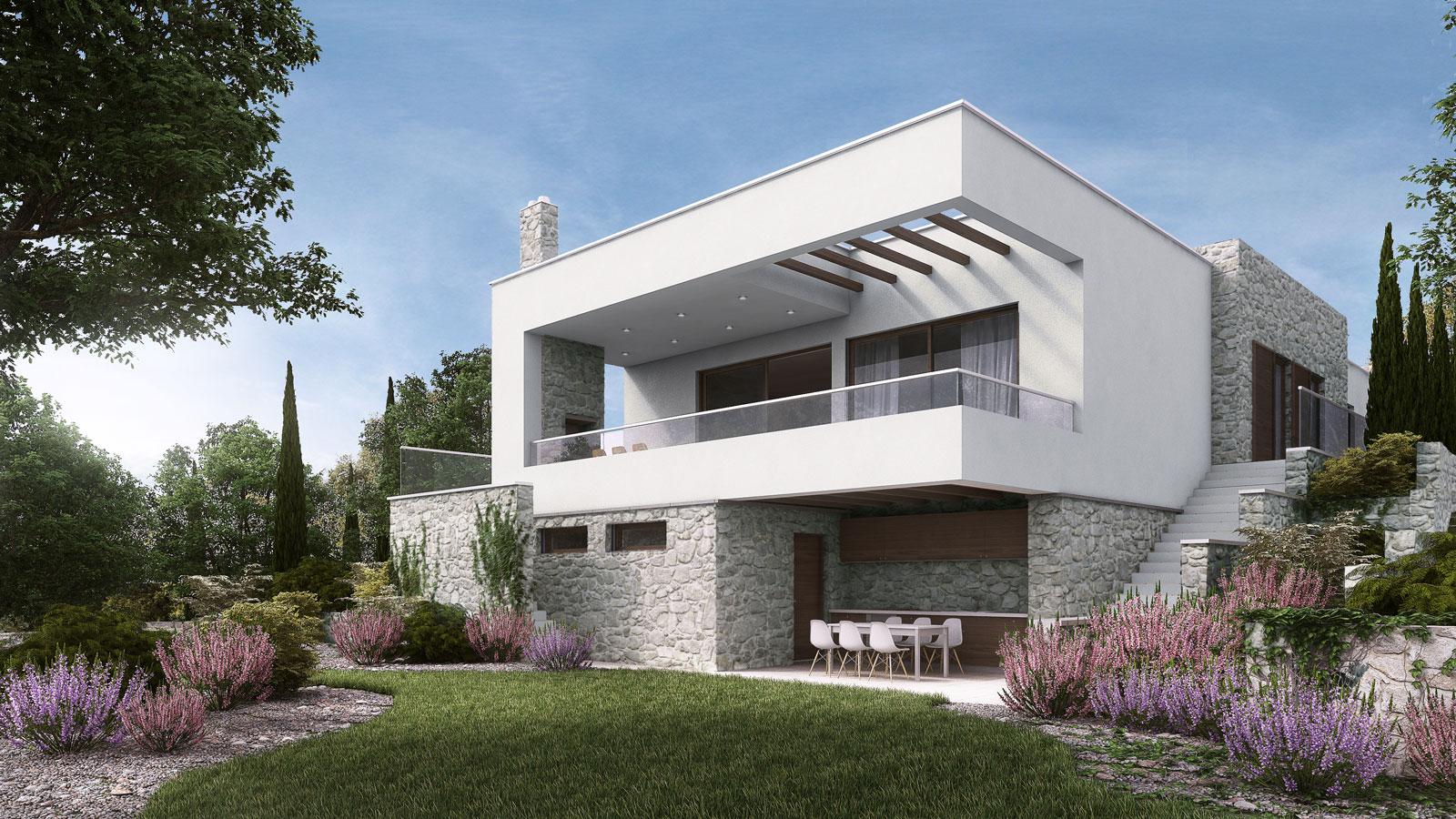 vizualizacija hiše Rijeka Crikvenica Krk projektiranje
