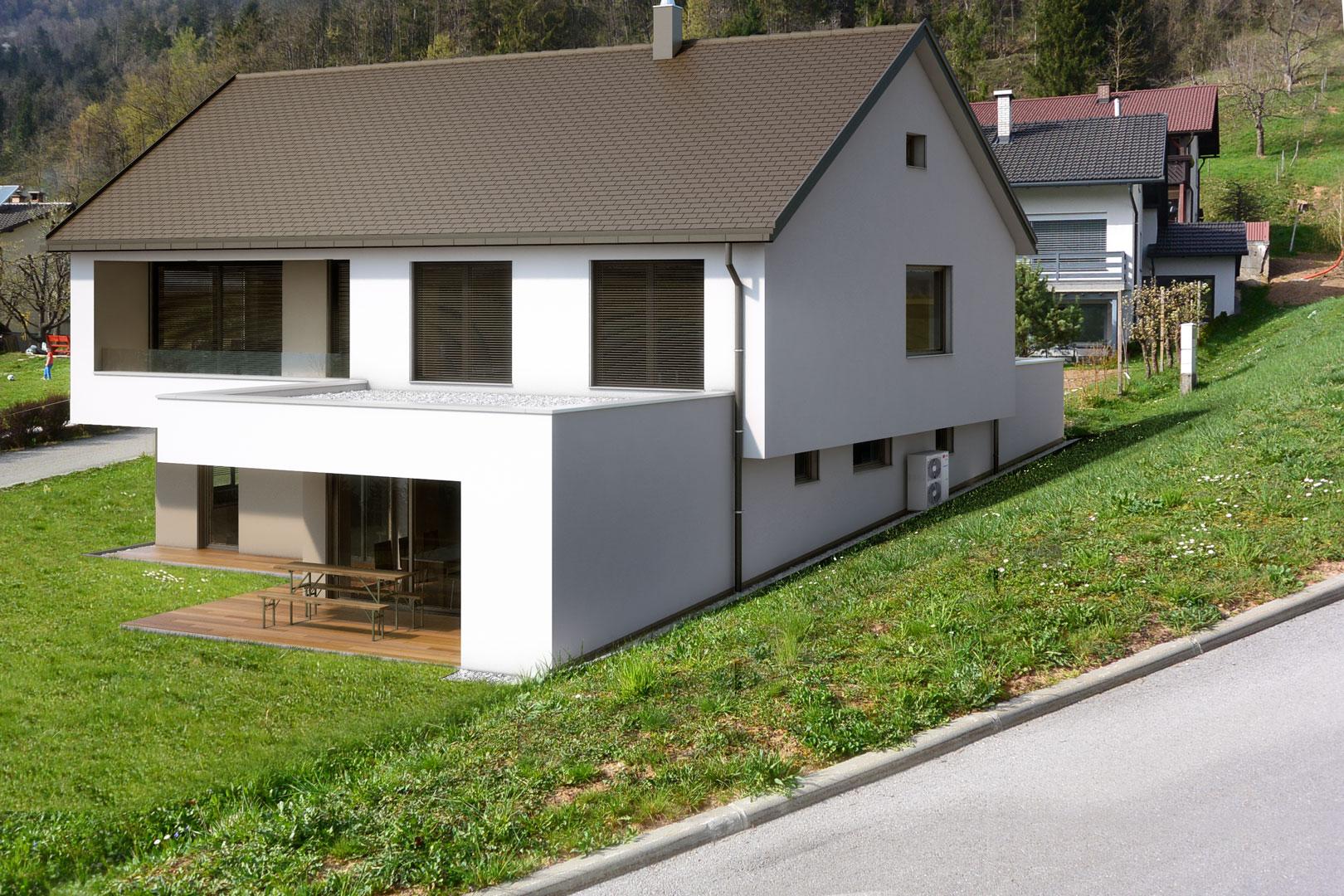 Arhitekt pasivna hiša, novogradnja